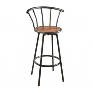 Handicrafts Industrial Furniture Iron Bar Stool with Vertical Slats