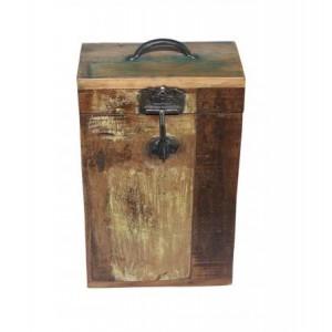 Handicrafts Industrial Furniture Wooden 2 Bottle Wine Box
