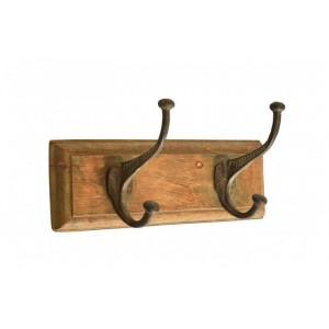 Handicrafts Industrial Furniture Wooden 2 Coat Hooks