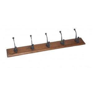 Handicrafts Industrial Furniture Wooden 5 Coat Hooks