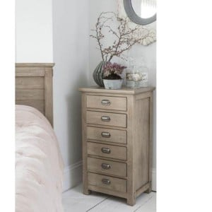 Homestead Recycled Pine Grey Furniture 6 Drawer Tall Boy