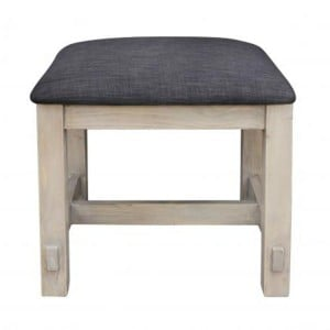 Homestead Recycled Pine Grey Furniture Dressing Table Stool