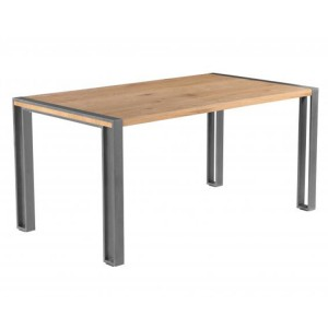 Oslo Furniture Large Rectangular 160cm Fixed Top Dining Table