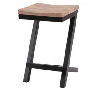 Oslo Furniture Sandblasted Grey Counter Balance Stool
