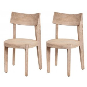 Oslo Furniture Vinegar Brown Airloft Round Dining Chair Pair