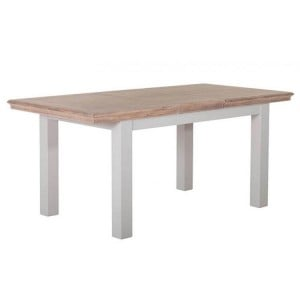 Rosa Light Grey Painted Furniture 140-180cm Extending Dining Table