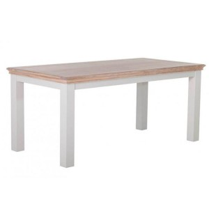 Rosa Light Grey Painted Furniture 180cm Fixed Top Dining Table