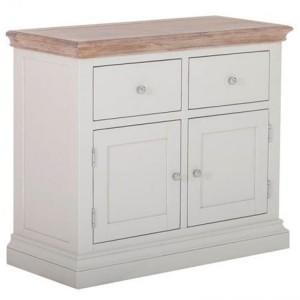 Rosa Light Grey Painted Furniture 2 Drawer 2 Door Buffet Sideboard