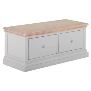 Rosa Light Grey Painted Furniture 2 Drawer Blanket Box