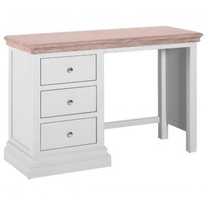 Rosa Light Grey Painted Furniture 3 Drawer Dressing Table