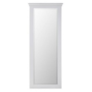 Rosa Light Grey Painted Furniture Long Rectangular Mirror