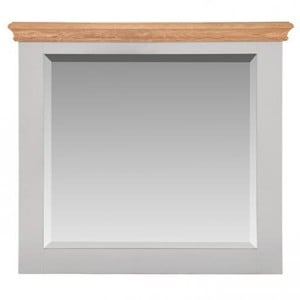 Rosa Light Grey Painted Furniture Small Rectangular Mirror