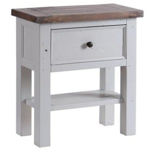 The Hamptons Pine Furniture 1 Drawer 1 Shelf Small Console Table