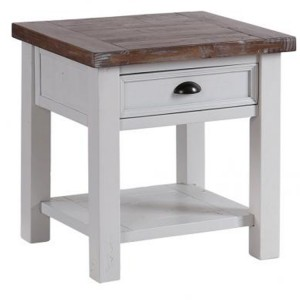 The Hamptons Pine Furniture 1 Drawer Lamp Table with Shelf