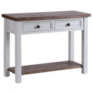 The Hamptons Pine Furniture 2 Drawer Large Hall Console Table