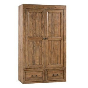 Urban Loft Reclaimed Pine Rustic Furniture 2 Door 2 Drawer Wardrobe