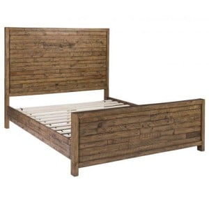 Urban Loft Reclaimed Pine Rustic Furniture 4ft6in Double Bed Frame