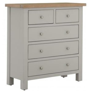 Vancouver Compact Light Grey Painted Furniture 2 Over 3 Chest of Drawers
