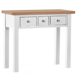 Vancouver Compact Light Grey Painted Furniture 3 Drawer Dressing Table