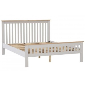 Vancouver Compact Light Grey Painted Furniture 5ft King Size Bed Frame