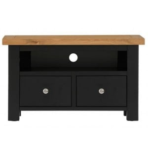Vancouver Compact Painted Black Grey Furniture 1 Drawer TV Unit