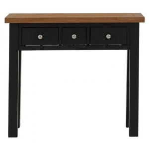 Vancouver Compact Painted Black Grey Furniture 3 Drawer Dressing Table