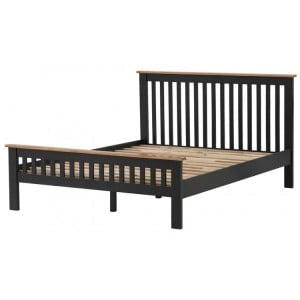 Vancouver Compact Painted Black Grey Furniture 5ft King Size Bed Frame