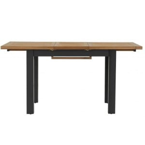 Vancouver Compact Painted Black Grey Furniture Medium 120-160cm Extending Dining Table