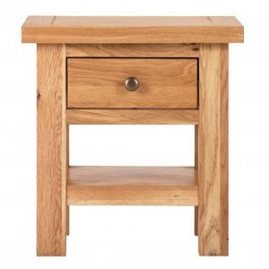 Vancouver Compact Oak Furniture 1 Drawer Side Table