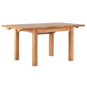 Vancouver Compact Oak Furniture Medium 120-160cm Extending Dining Table