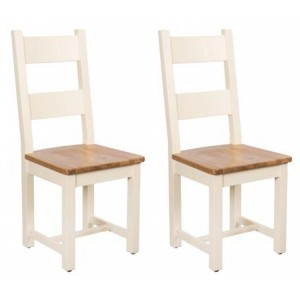 Vancouver Expressions Cornish Cream Furniture Timber Dining Chair Pair