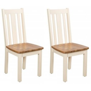 Vancouver Expressions Cornish Cream Furniture Wooden Dining Chair Pair