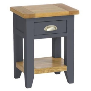Vancouver Expressions Down Pipe Furniture 1 Drawer Bedside Table