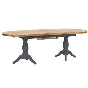 Vancouver Expressions Down Pipe Furniture 240cm Oval Dining Table