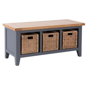 Vancouver Expressions Down Pipe Furniture 3 Drawer Storage Bench