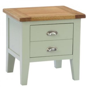 Vancouver Expressions French Grey Furniture 1 Drawer End Lamp Table