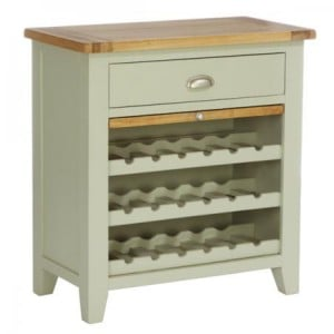 Vancouver Expressions French Grey Furniture 1 Drawer Wine Rack