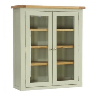 Vancouver Expressions French Grey Furniture 2 Door Glazed Hutch