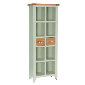 Vancouver Expressions French Grey Furniture 2 Drawer Tall Bookcase
