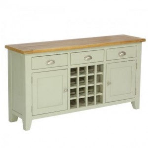 Vancouver Expressions French Grey Furniture 3 Drawer 2 Door Wine Table