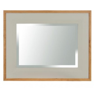 Vancouver Expressions French Grey Furniture Rectangular Wall Mirror