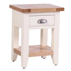 Vancouver Expressions Linen Furniture 1 Drawer 1 Shelf Bedside Table