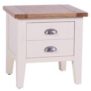 Vancouver Expressions Linen Furniture 1 Drawer Lamp End Table