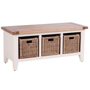 Vancouver Expressions Linen Furniture 3 Basket Drawer Storage Bench
