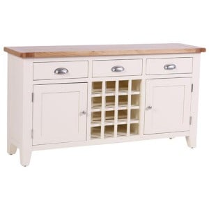 Vancouver Expressions Linen Furniture 3 Drawer 2 Door Wine Table