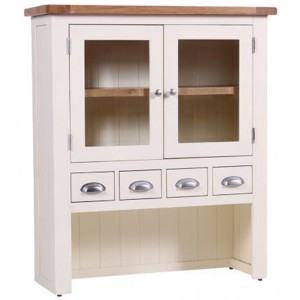 Vancouver Expressions Linen Furniture 4 Drawer 2 Door Hutch