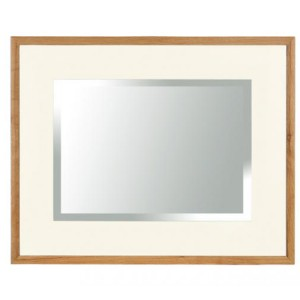 Vancouver Expressions Linen Furniture Large Rectangular Wall Mirror