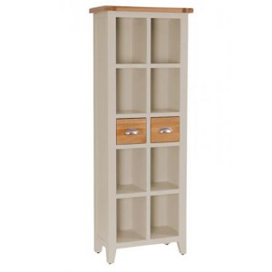 Vancouver Expressions Potters Wheel Furniture 2 Drawer Tall Bookcase