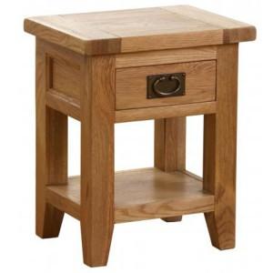 Vancouver Petite VSP Solid Oak Furniture 1 Drawer Bedside Table
