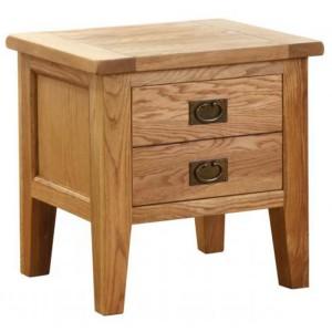 Vancouver Petite VSP Solid Oak Furniture 1 Drawer Lamp Table
